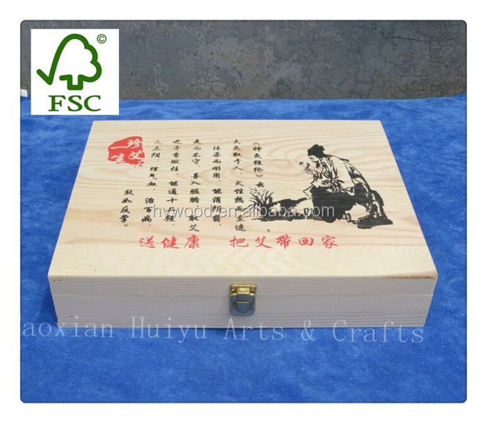 empty birch fir paulownia pine wooden rectangular wood box packaging with custom silkcreen print logo for jewelry food chocolate