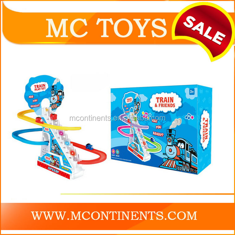 Hot Sell Plastic Track Game Set With Sliding Train