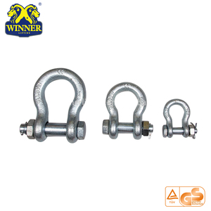 G210 S-210 Alloy Steel Red Screw Pin Marine Chain Type Bow Shackles