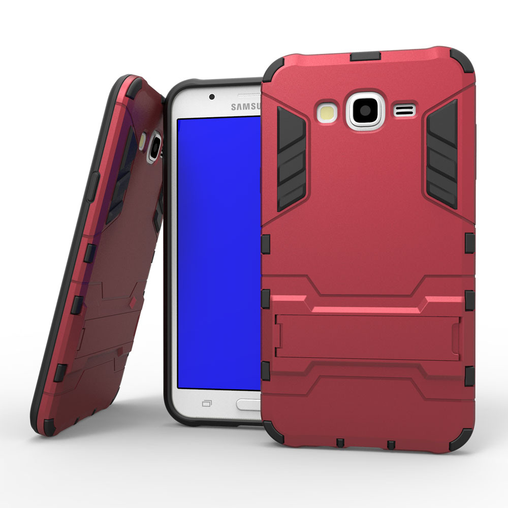 For Samsung Galaxy J7 Pc Tpu Hybrid Case Armor Cover With Stand ...