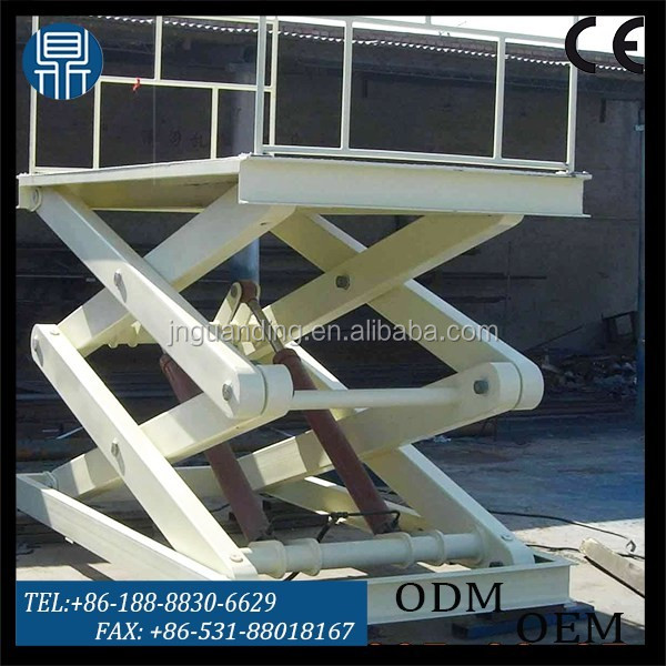 Vertical lift shear fork aerial work platform