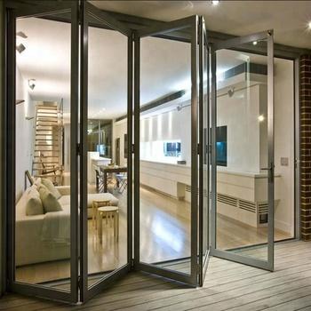 Wholesale Folding Glass Garage Doors Interior Partition Frameless
