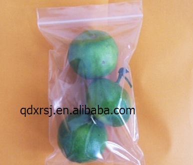 Bag, containing fruit bag, a transparent bag