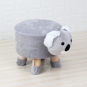 Mise cute Koala animal stool children wooden chair living room ottoman footrest