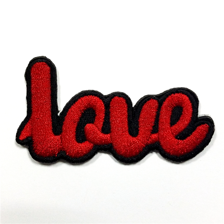 Hot Selling Promotion High Quality Custom Iron 3D Flock Patch Embroidery Manufacturer In China