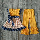 children clothing 2017 arrow print dress match ruffle pants toddler girls outfits spring kids casual style outfits