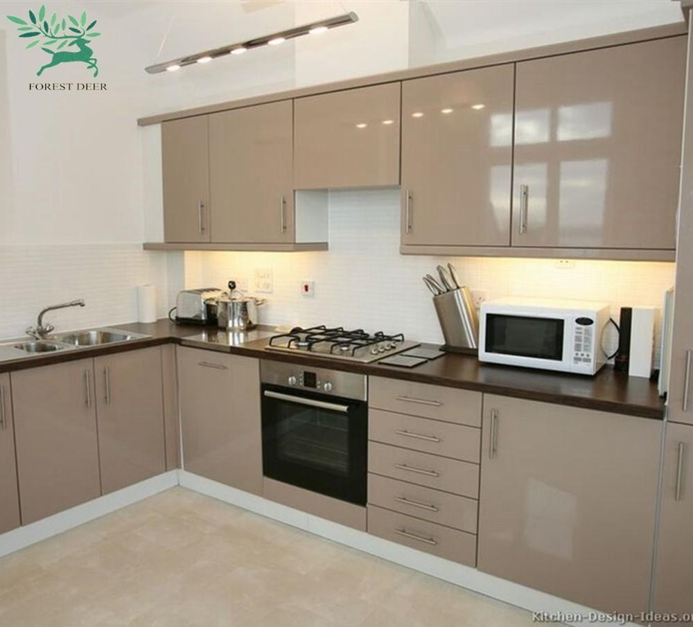 Customized Popular Kitchen Cupboards Mdf/hdf Kitchen ...