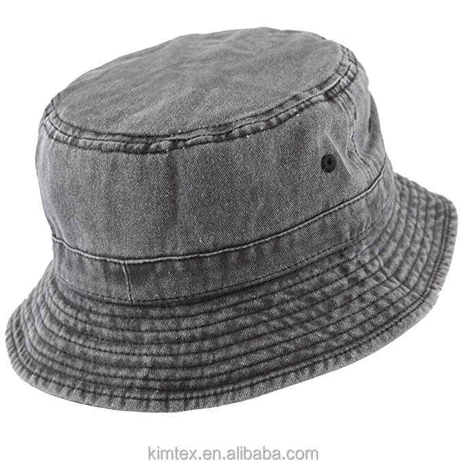 100% Cotton Custom Packable Pigment Washed Cotton Bucket Hat