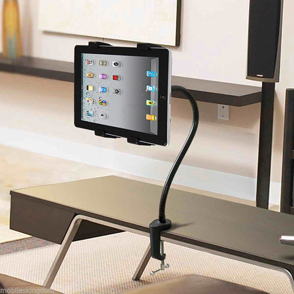 Tablet PC Mount - UNHO LAZY MAN Flexible Desk Table 360 Degrees Rotating Desktop Stand Lazy Bed Tablet Holder Mount for iPad Air 5 Samsung M-CA003,for iPad Mini Android Tablet Flat PC - Supports all 5 to 10 inch tablets