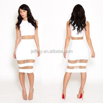 Lady Fashion Bodycon Mesh Hollow Out Club Y White Dresses Gilr S Birthday Party Dress Women Slim