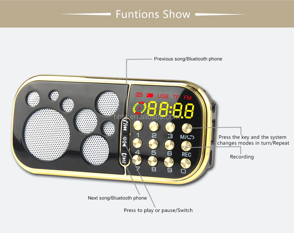 Pocket Fm Radio With Bluetooth Speaker Multimedia Speaker (q60bt) - Buy  Pocket Fm Radio,Bluetooth Speaker,Bluetooth Speaker Multimedia Speaker  Product
