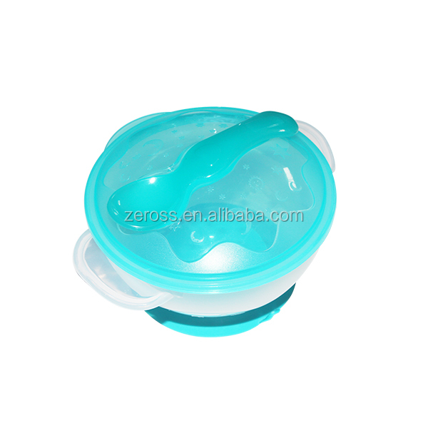 High Quality silicone Baby Suction Cup Bowl with Spoon/ Infant Feeding Bowl with Ears