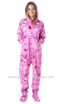Hoodie Footie Pajama/onesie - Buy Hoodie Footie Pajama,Cotton ...
