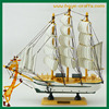 white color wooden nautical ships wholesale Small Model ships Decor ships