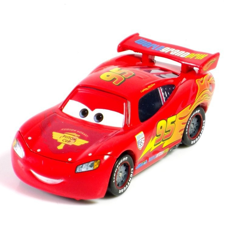 Pixar Cars 2 100% authentic mqueen no. 95 1:55 scale die-cast metal alloy model brio cute toy for kids gifts free shipping