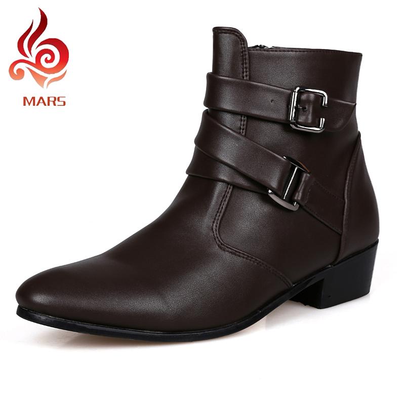 2016 Men Boots Leather Winter Boots Men Waterproof Warm
