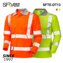 European Market High Visibility Reflective Workwear Protective Security Guard Safety 100% Microfiber Polyester Polo Tee T Shirts