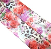 2015 Gets.com flower pattern imitation silk polyester scarf
