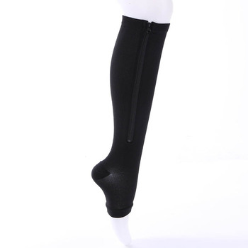 dcea98431dd665 Top Quality Miracle Socks Antifatigue Compression Stockings Soothe Achy  Unisex Knee Socks Supports Open Toe Zipper