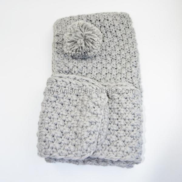 S3449 Moda De Invierno 2018 Tejer Crochet Animal Bufanda Con Capucha ...