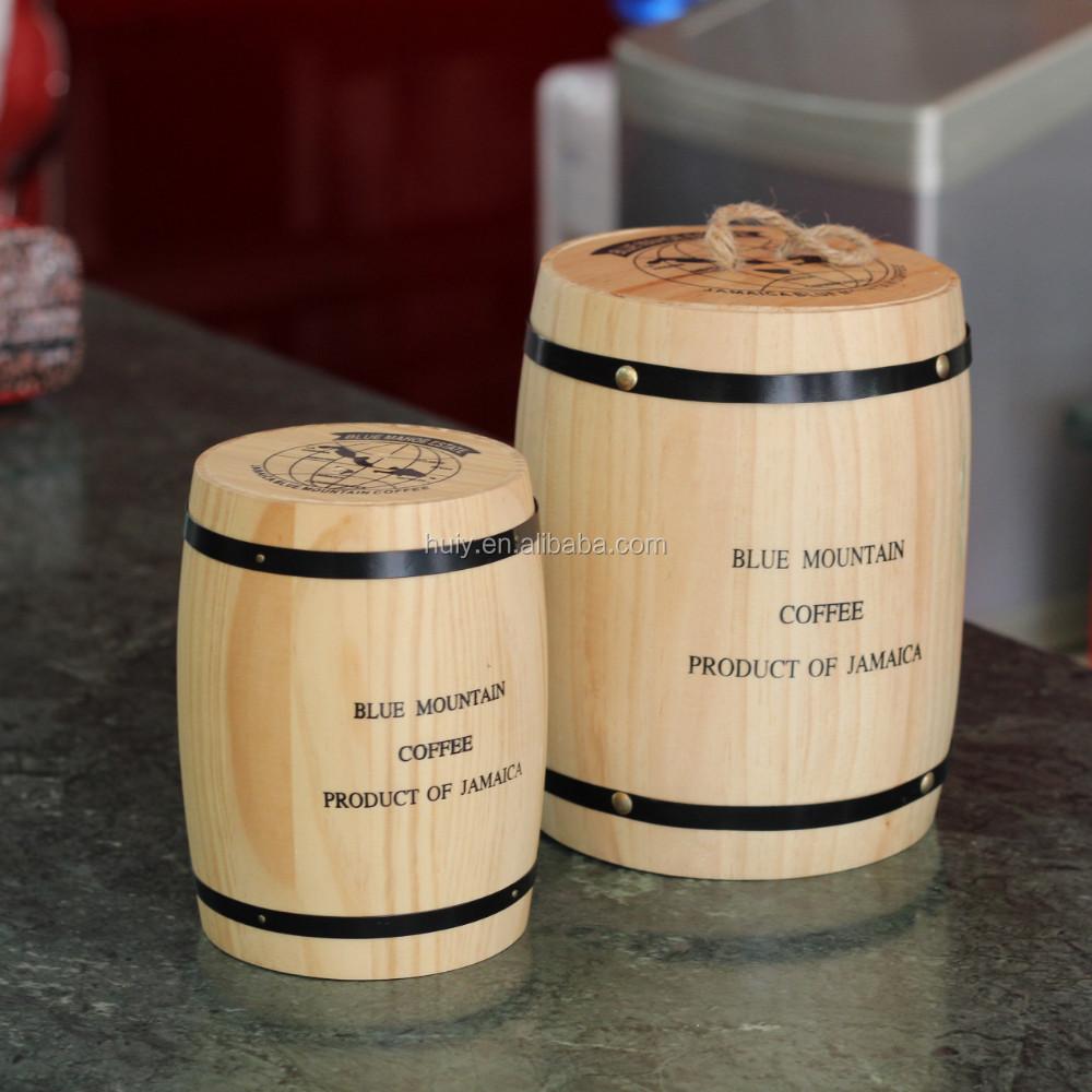 Custom Made Small Wooden Barrels Mini Coffee Bean Barrel
