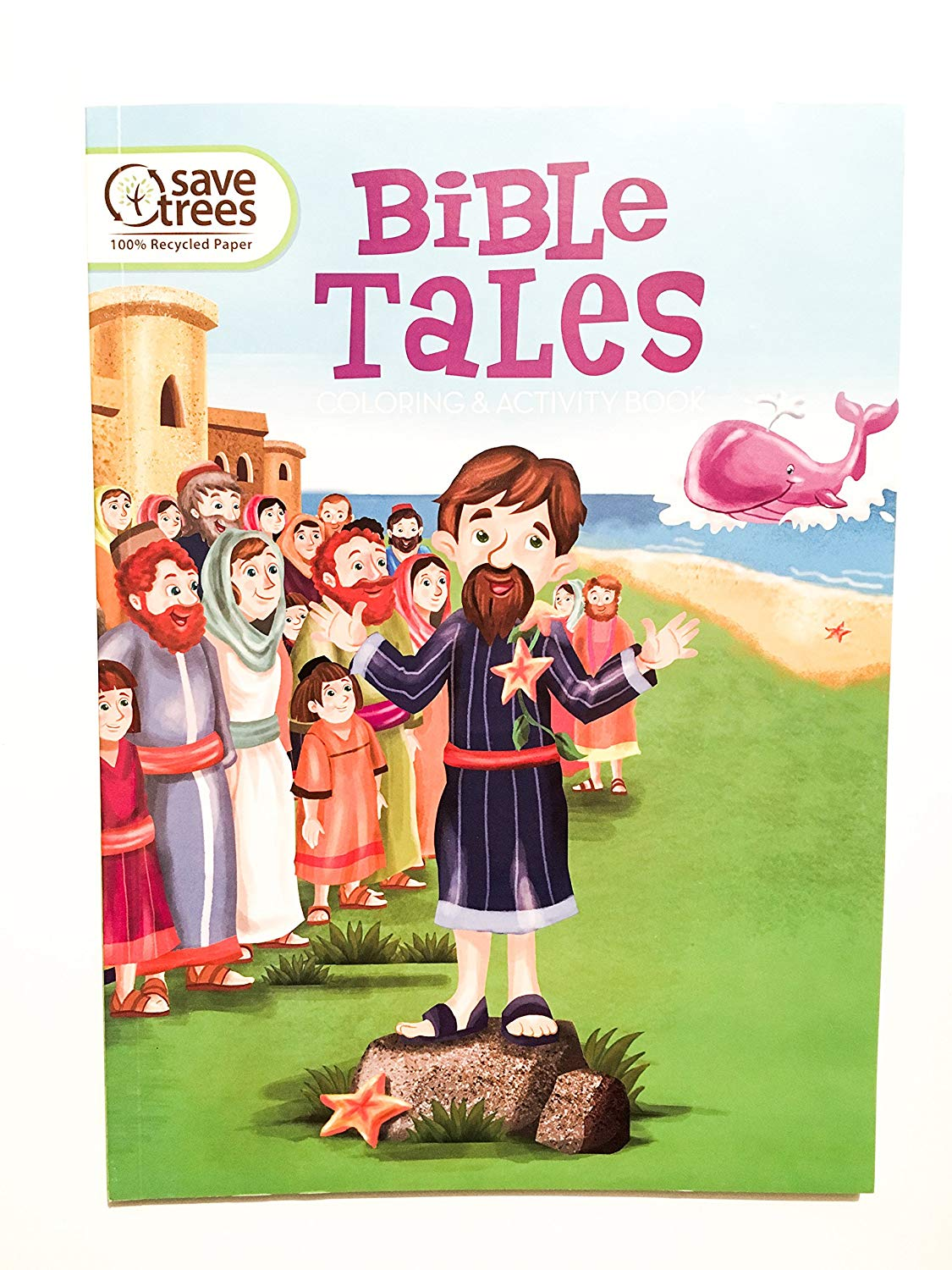 Get quotations · bible tales coloring activity book interactive bible story coloring book activity book