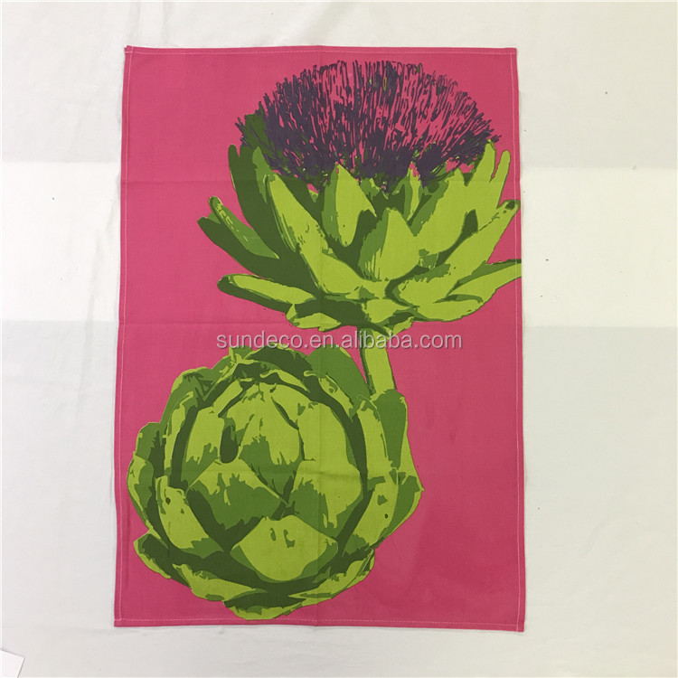 China supplier home textile eco friendly 100% cotton tea towels kitchen cotton linen