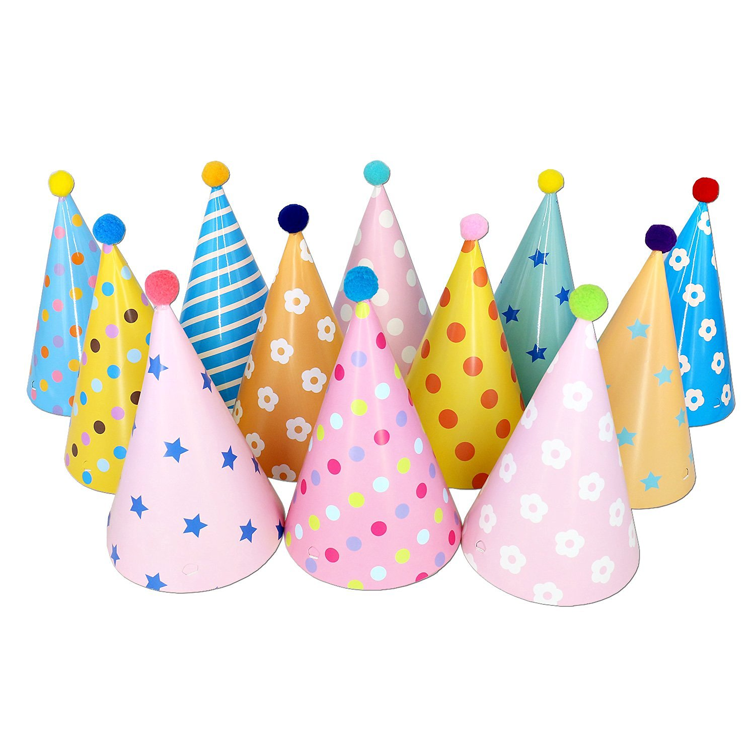 Get Quotations Birthday Party Hats Tea Decorations Supplies For Kids Adults 12 X