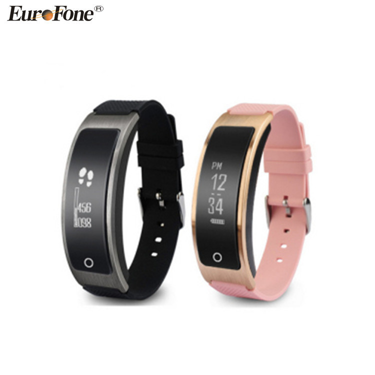 Hot Dynamic Heart Rate Touch Screen Bracelet Wristband HR Pedometer Calorie Counter Smart Watch I8 for iPhone Android
