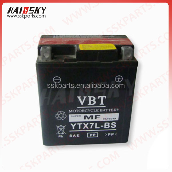 Haissky motorcycle parts spare high performance manufactured in china 12v 9ah motorcycle battery