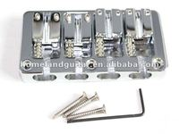 Chrome Metal 4 String Double Bullet saddle Bass Bridge