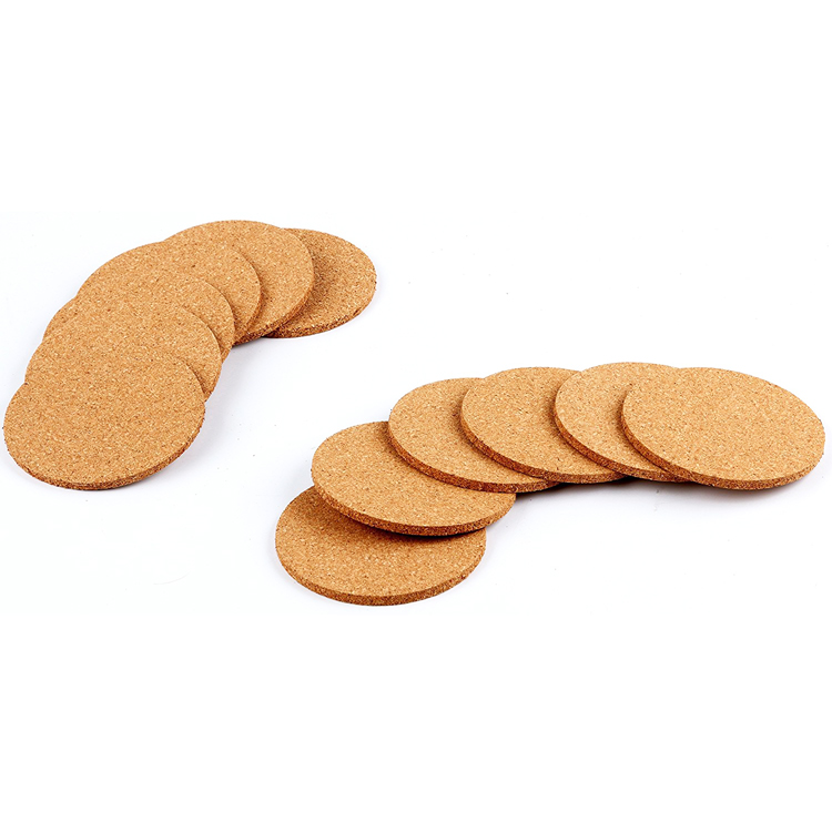 Stocked Blank Cork Coasters 4.25 Inches Best Drink Coaster for Drinks in Office, Home, or Cottage