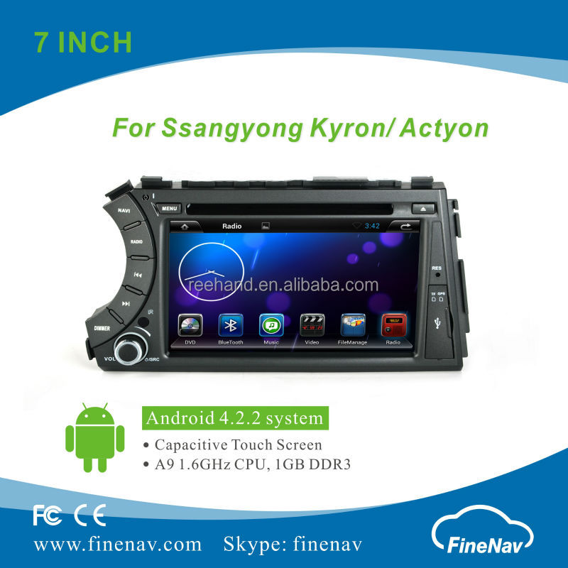 "7"" LCD Screen Car Radio Interface Android 4.2.2 for SsangYong with Gps Navi,3G,Wifi,Bluetooth,Ipod Support Rear View Camera,DVR"