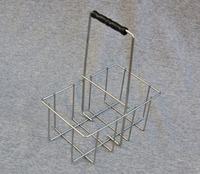 Antique green iron storage basket, Garden wire storage basket holder