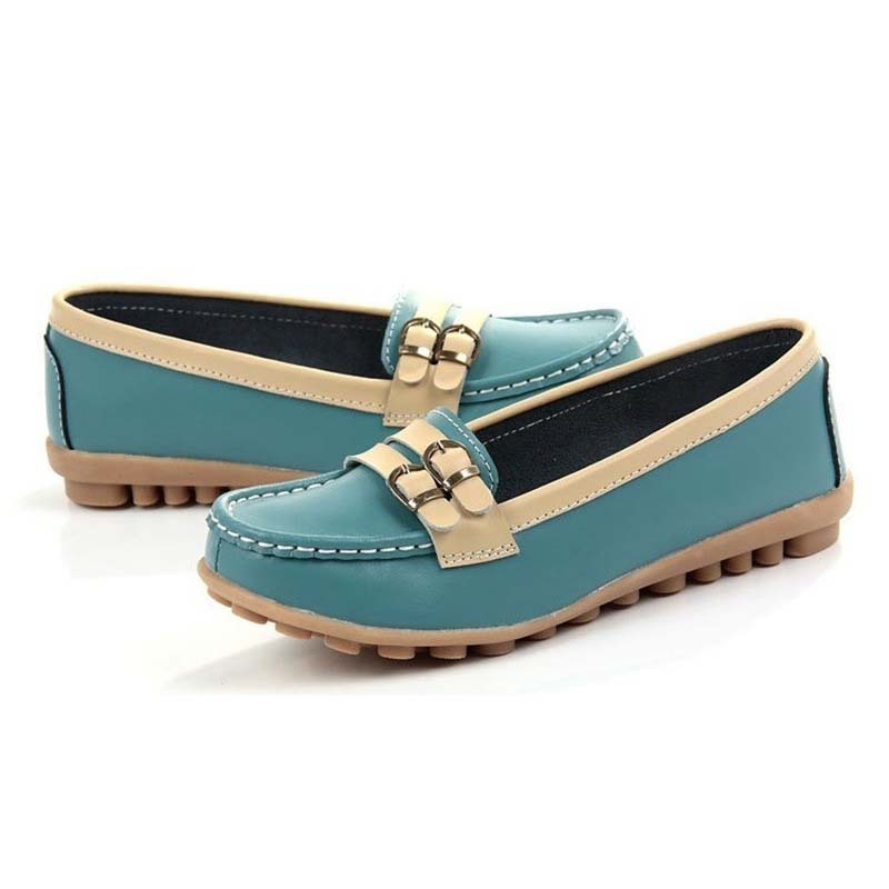 2015 New Summer Women Flats Genuine Leather Shoes Woman Casual Driving Moccasins Loafers Fashion Ladies Flat Shoes SND-148