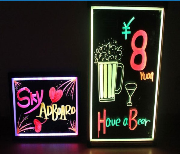 kids handwriting tablet led sign write board with color change and remote control