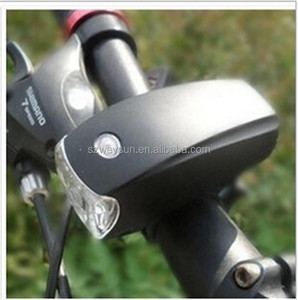 Cycling Bike Super Bright 5 LED Front Torch Headlight Light Lamp Bracket 3-Modes Waterproof Black Bicycle Light