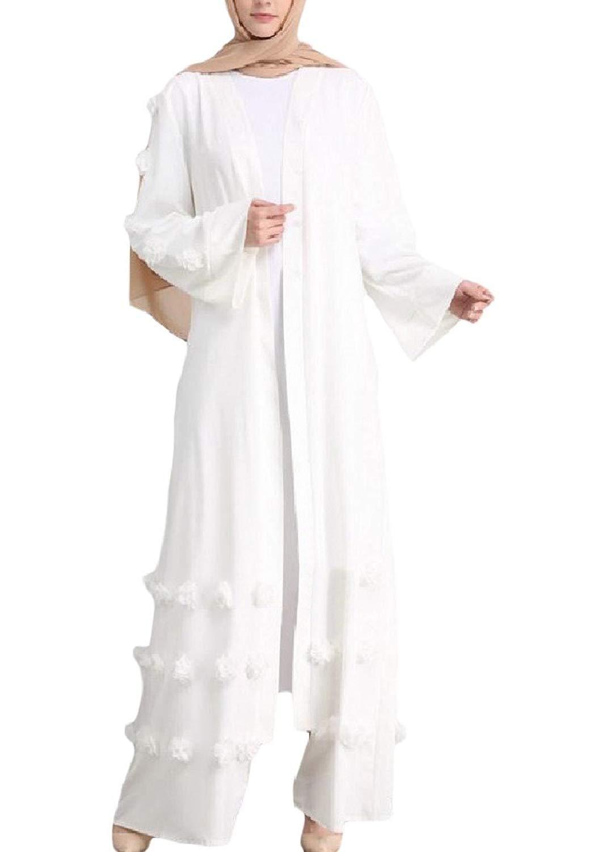 Winwinus Mens Solid Arabia Islamic Slim Casual Down Tops 2 Piece Set
