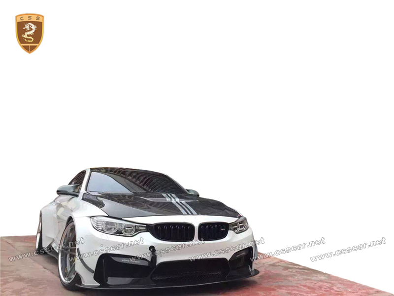 portion carbon fiber body kit for bnw M4 F82 change to vorstene style wide bodykits