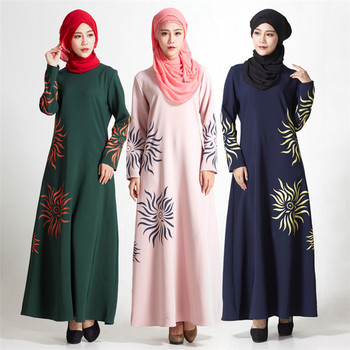 New style modern islamic clothing printed muslim hui dresses women long dress abaya