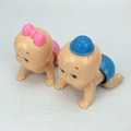 2pcs Boy Girl Baby Dolls Wind Up Vintage Clockwork Twisted Ass Crawling Educational Toys for Children