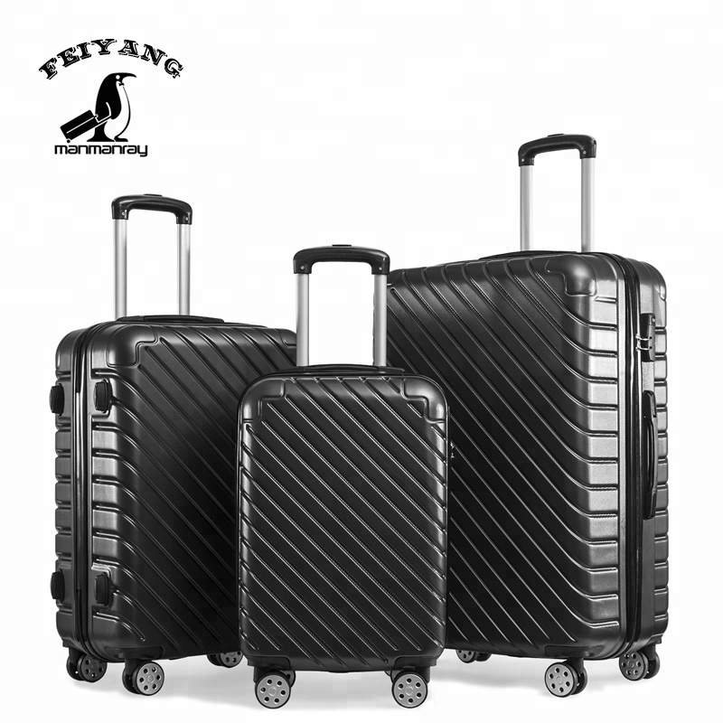 Printing suitcase set, custom logo suitcase, ABS luggage set suitcase