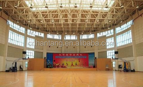 light weight steel truss/space frame volleyball court roofing