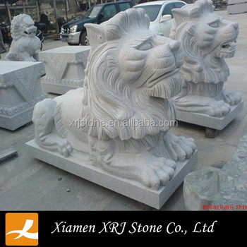 Marble Big Stone Lion Statue For Garden