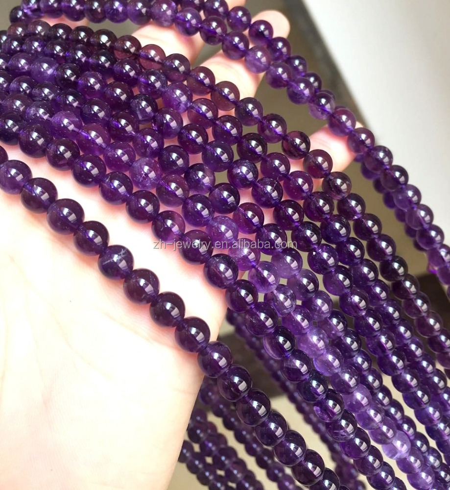 Natural Amethyst Crystal Gem Stone Beads For Sale