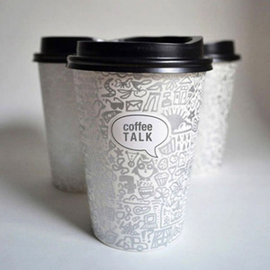 Promotional wholesale custom disposable paper coffee cup