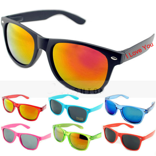 Neon Colors Plastic Shutter Shades Party Glasses Or Sunglasses ...