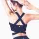 Custom oem blank cheap plain women breathable hot ladies girl sexy padded gym yoga running sport seamless bra top fitness set