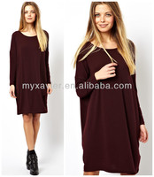 T-Shirt Dress Jersey In Nepi With Long Sleeve (M9035)