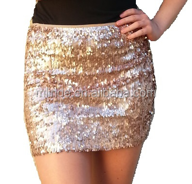 Custom Women Fashion Festival Holiday Maxi Oval Gorgeous High Quality Sequins Long Sequined Skirt